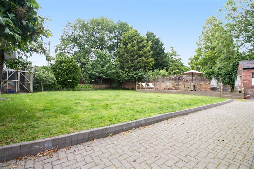 Rear garden and decking area