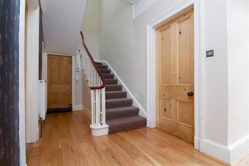 Entrance hallway leading to first floor